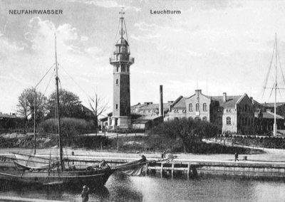 Latarnia widziana z Westerplatte, 1894.
