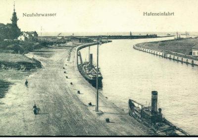 wejście do portu, 1902