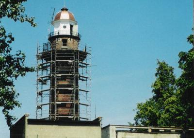 Latarnia Morska, remont, nowa kopuła, 2003