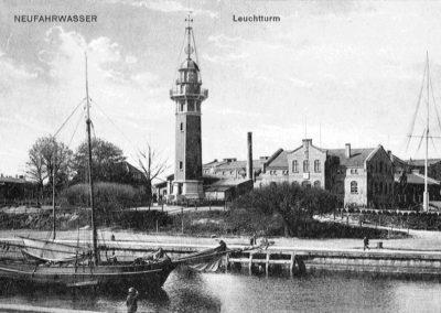 Latarnia Morska Gdańsk zkulą czasu, ok